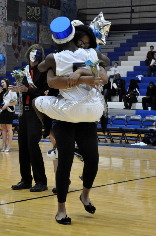 Senior Ava Gaines and Je'Vonte' Hughes crowned Winterfest king and queen. They were both nominated by their peers and were crowed durning the half time of the Loy Norrix mens basketball game.