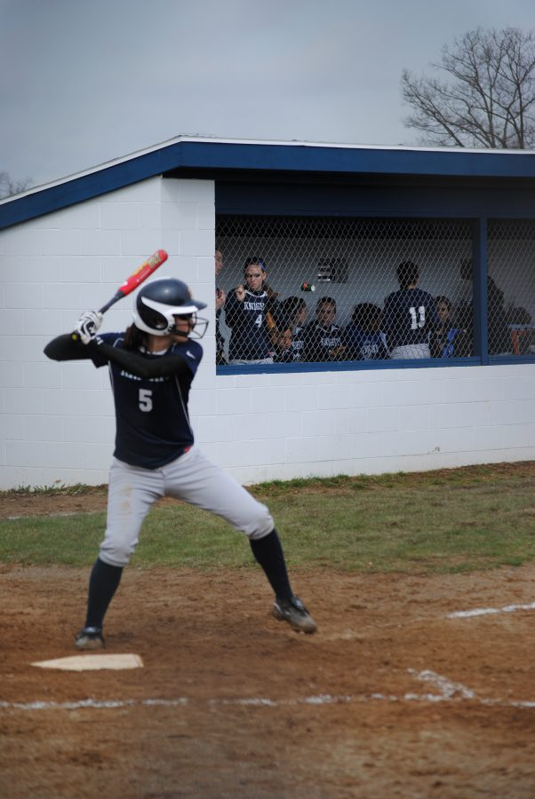 Senior Alex Ewell up to bat durning a game against Bloomingdale.