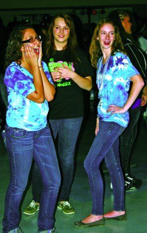 Juniors Leila Al-Ousi, Ashley Nelson and Sarah Townsend enjoying Homecoming. Photo by Racheal Koole