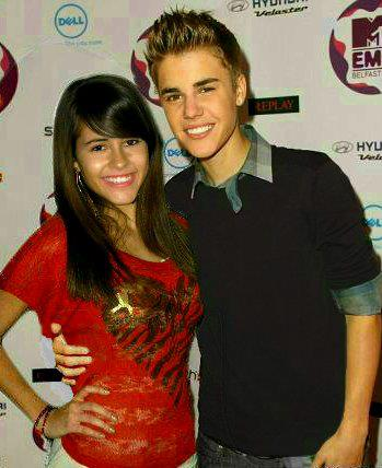 Junior Jade Hubbard is a big Bieber fan. She has this photoshopped picture of her and Justin Bieber. Photo manip by Jade Hubbard