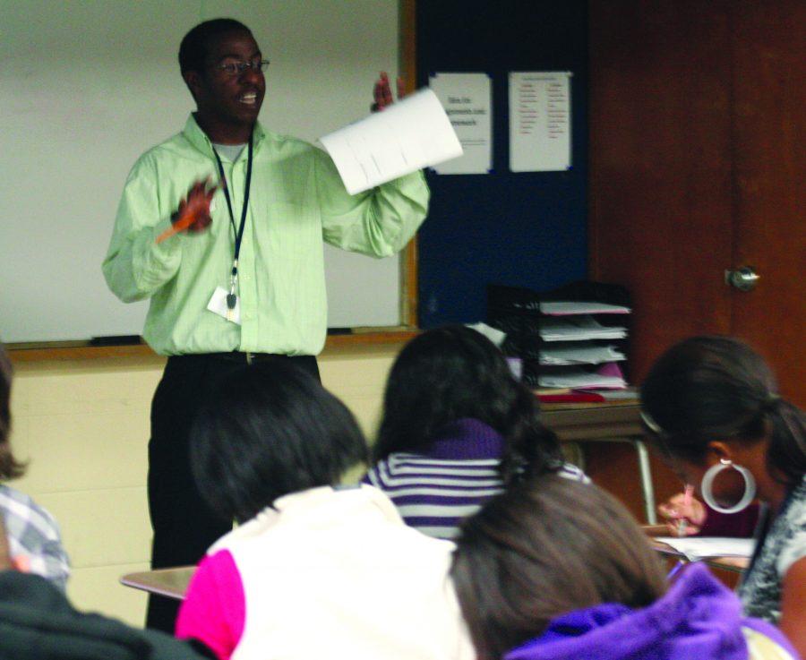 New math teacher, Cohen Sanqster, has similar feelings as the freshmen do, nerves and excitement. Photo by Daniela Paz