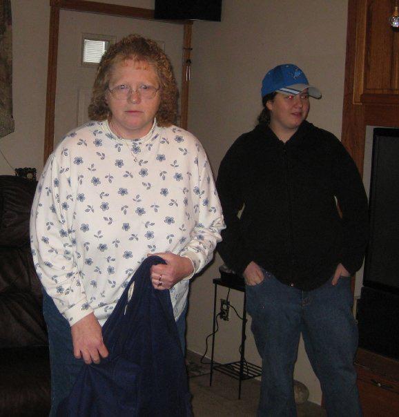 Leah Hagen (age 14) with her mother, Sydney Hagen (age 49). Photo by Ken Hagen.