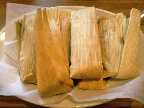 Tamales served by El Gallo Blanco. Six tamales are $4.99. In addition to the great price of tamales, El Gallo Blanco also serves a large burrito for $4.99, three enchiladas for $4.99, or three flautas for $4.99. Photo by Racheal Koole