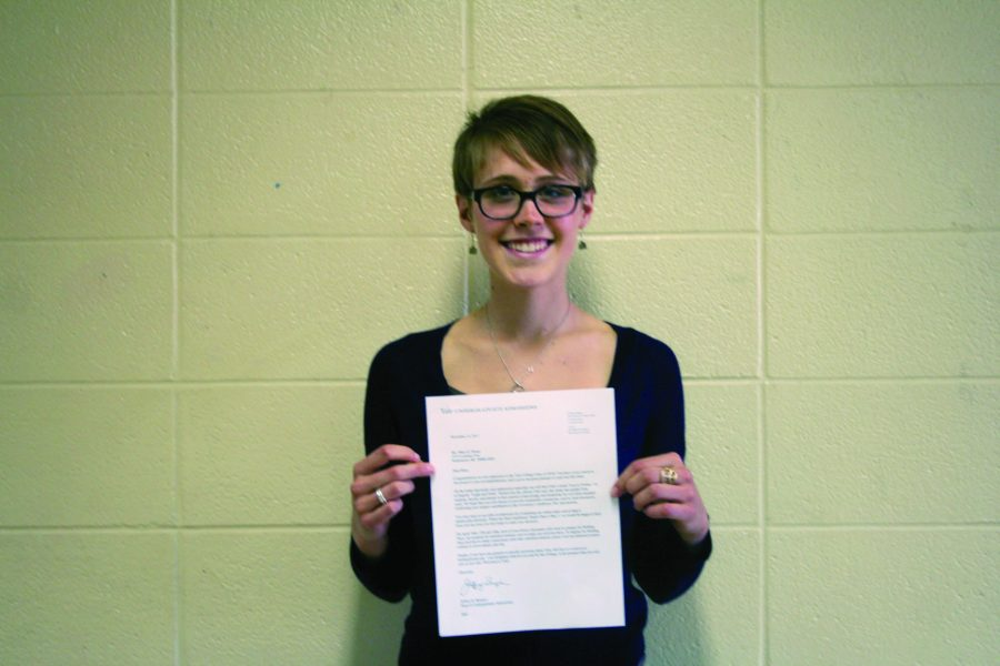 Senior Mary Farner is accepted to Yale University for the 2012 fall semester.