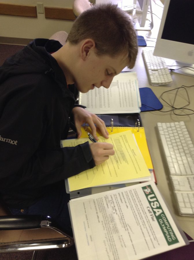 Photo by Ben Dunham Junior Tom Rupp puts in some extra study time before his exams this week.  Studying during the day will help you hold on to information longer, as you won't be tempted to go to sleep like you are at night.