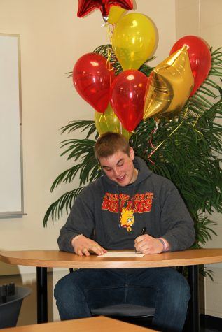 After overcoming the struggles of his freshman year, senior David Mann finally made his dreams come true.  He will bring his passion for football to the Ferris State University team this coming fall.