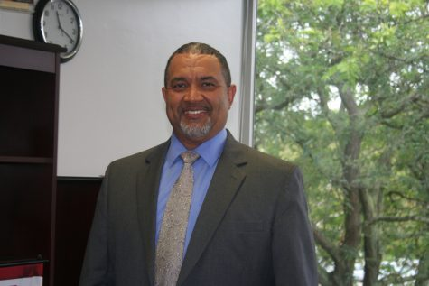 Rodney Prewitt enjoys the new life as Loy Norrix new principal. Interested in getting to know more of Norrix, he takes the time to introduce himself to many students as he passes by and makes surprise visits to new and returning teachers classes here at Loy Norrix.