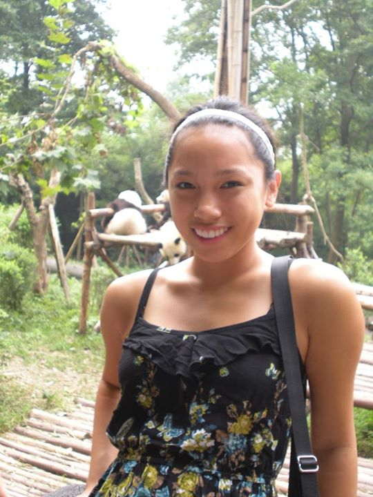 Young traveler Lian Wardrop relaxes at a panda research base in China. Wardrop has traveled to over 6 countries and plans on going many more places in the future. Photo credit: Daneen Wardrop