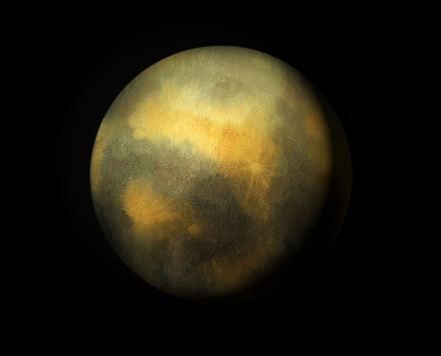 Artists sketch of Pluto based on a picture taken by the Hubble Space Telescope. Pluto was discovered on February 18, 1930