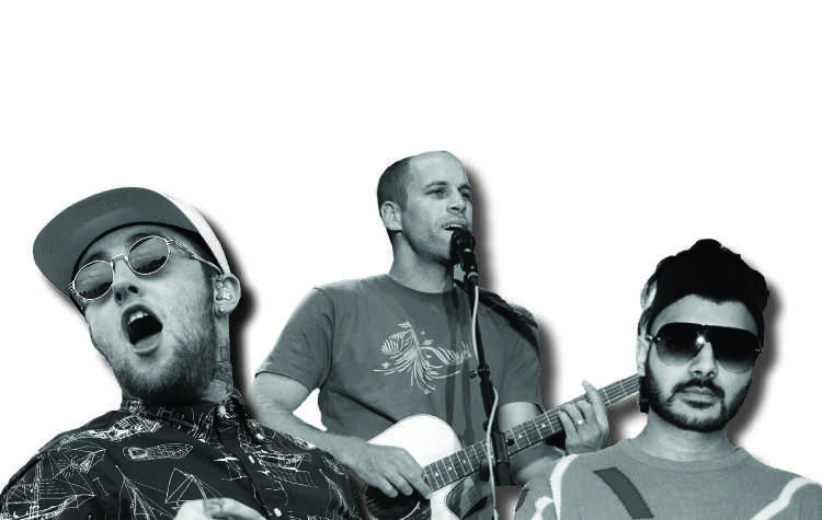 by Max Evans From left: Mac Miller, Jack Johnson, and Jai Paul.
