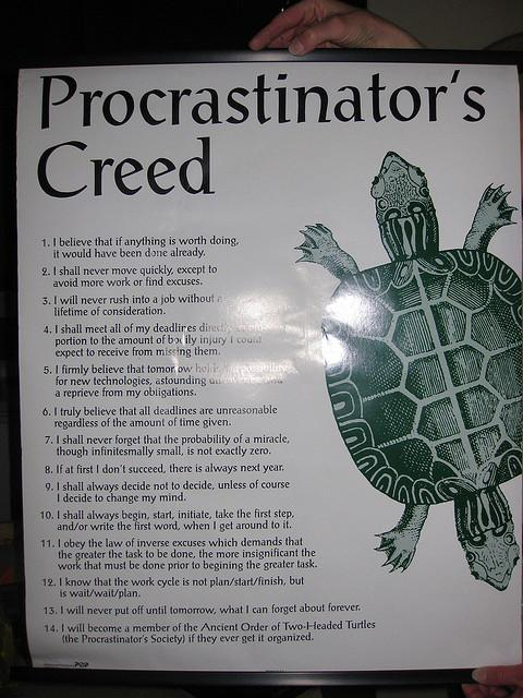 A Procrastinator's Guide to Studying