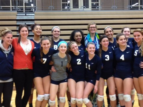 Lady Knights Volleyball team Prevails