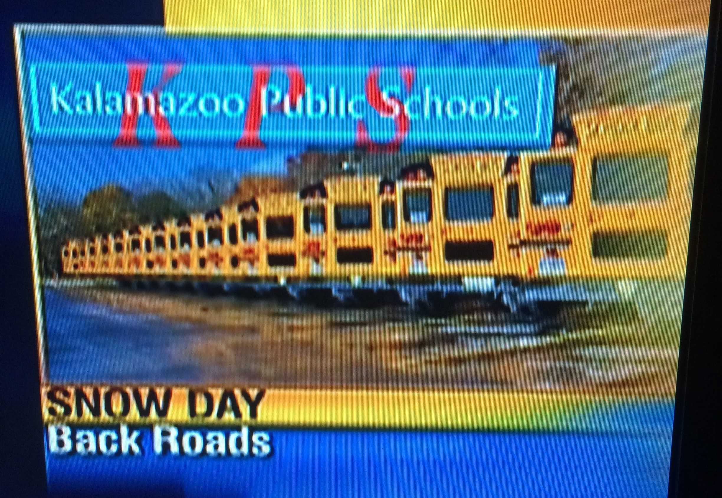 This is a common graphic of when the news channels announce that school is closed. This week KPS has had multiple snow days. Photo Credit / Scott May