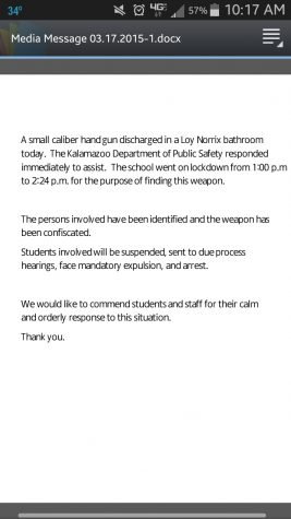 Kalamazoo Public School's Official Response to Tuesday's Lockdown