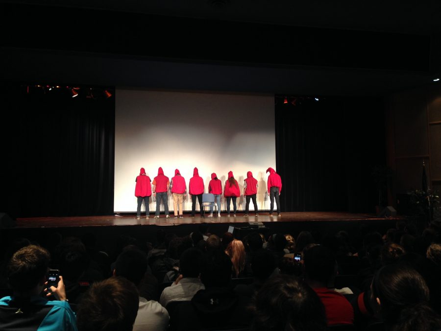 Loy Norrix National Honor Society put on a performance to help motivate students to donate blood.