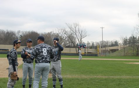 Knights' Baseball Team Sweeps Crosstown Rival