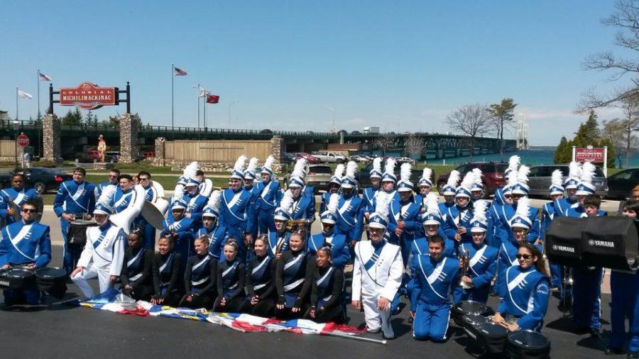 Marching Knights Take on Mackinaw City
