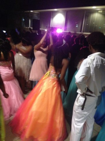 Loy Norrix students at the KIA for their 2015 prom. The students danced in the outside courtyard.