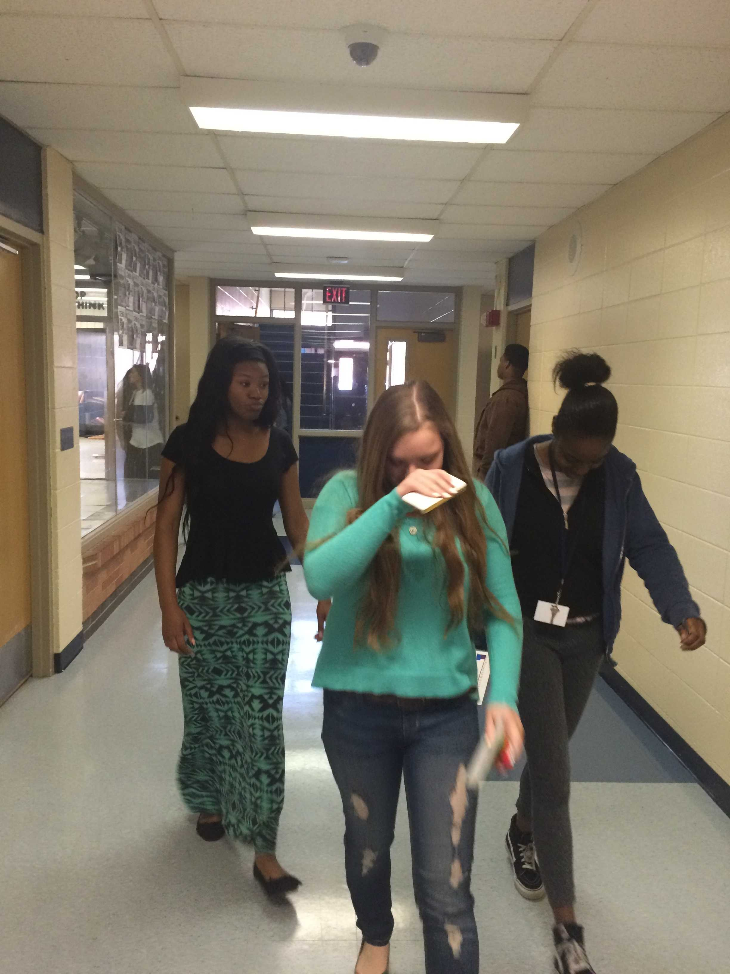 Seniors head out to lunch, they are very ready to be done with school. Photo Credit / Rachel Wheat