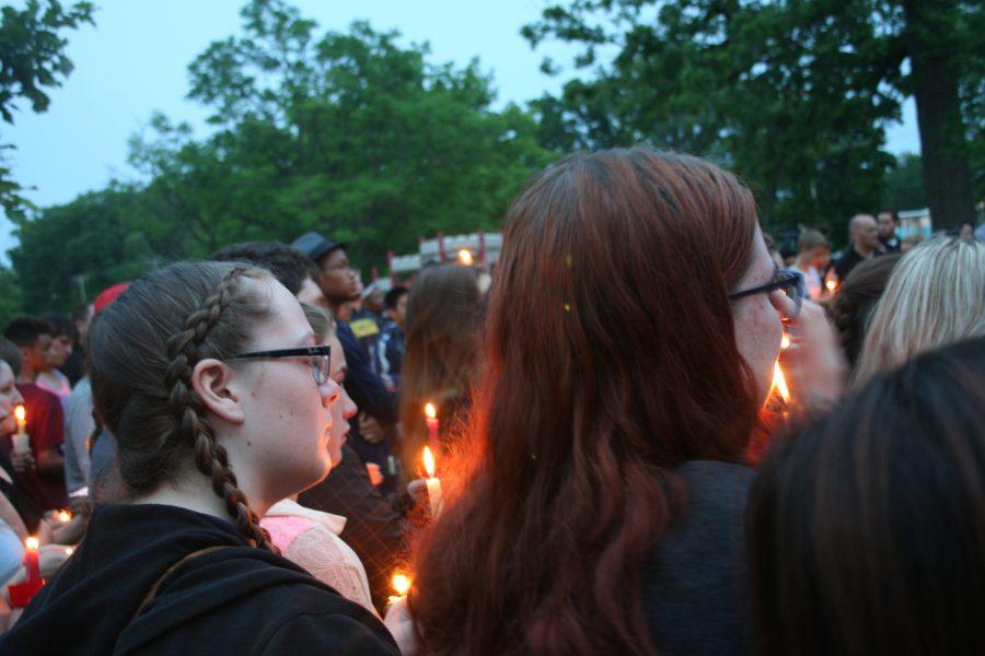 Candlelight Vigil for Loy Norrix Student Chhay Wong
