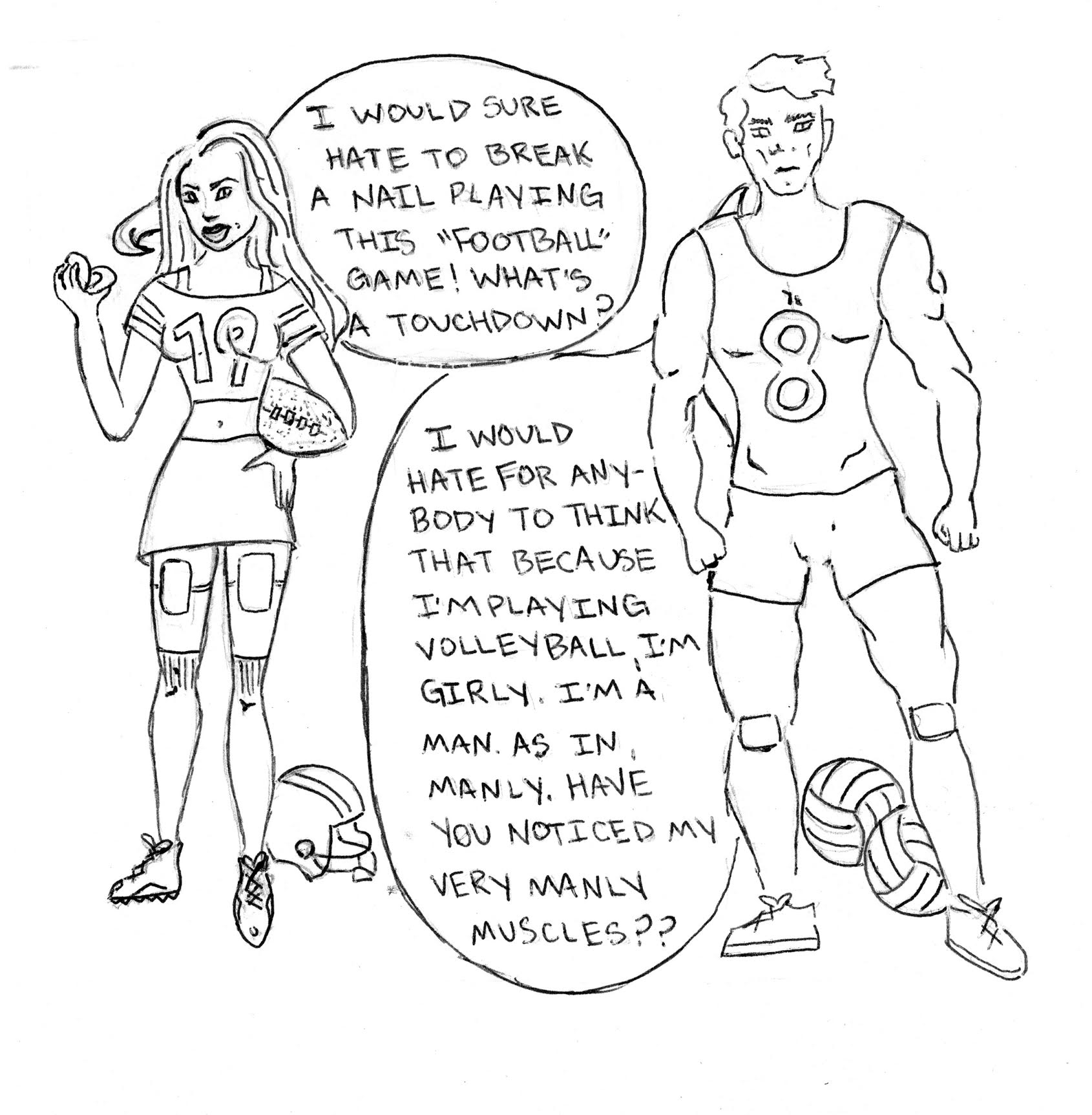 Comic by Nora Hilgart-Griff.