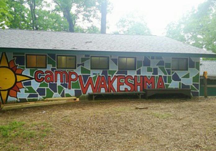 The Camp Wakeshma bath house Photo credit: Rachel Zook