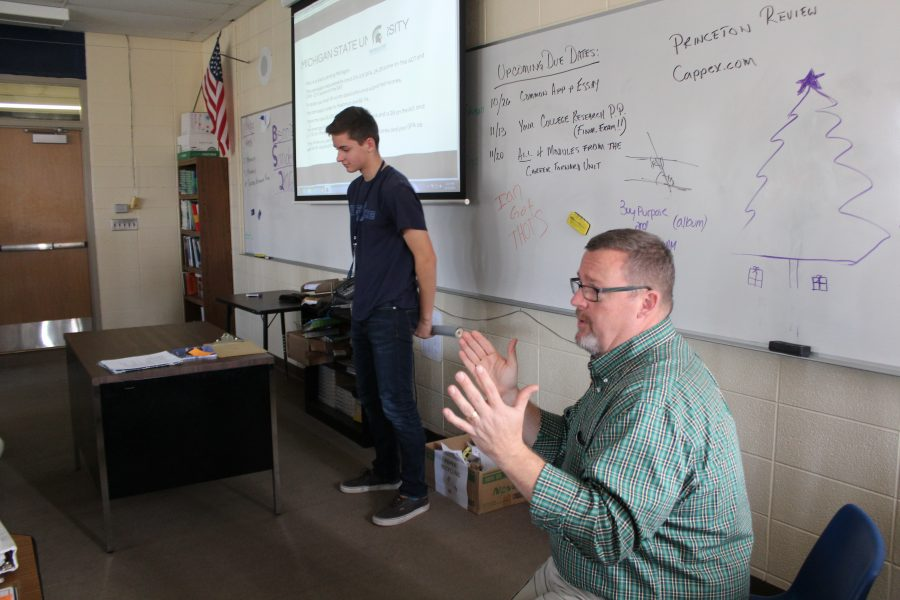 October's Teacher of the Month, Jay Peterson