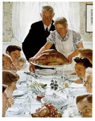 Freedom from Want by Norman Rockwell.