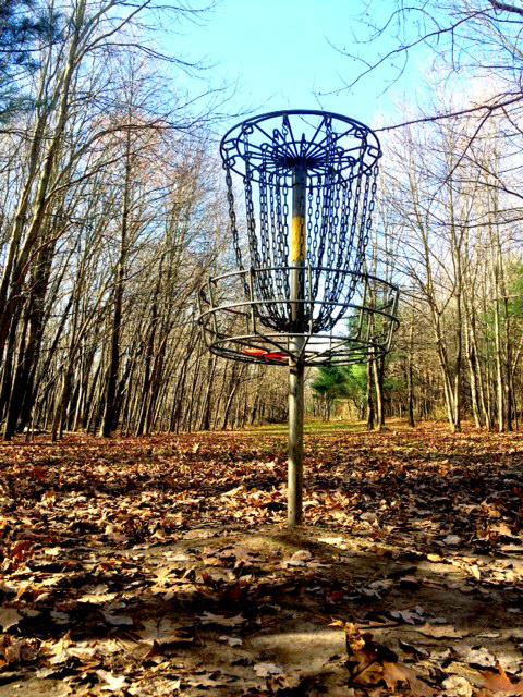 A hole on the back 9 at Oshtemo Township Park. This is one of the favorites among many of the locals. Photo Credit / Traver Parlato