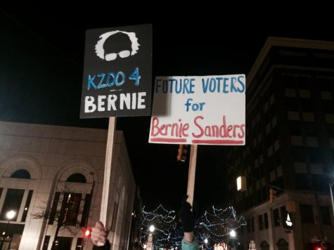 Joining the Political Revolution: Kalamazoo Residents March Downtown for Bernie Sanders