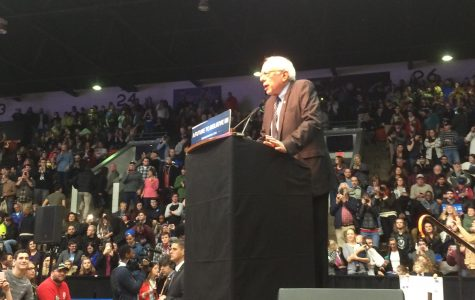 Bernie Rallies Supporters at Wings Stadium
