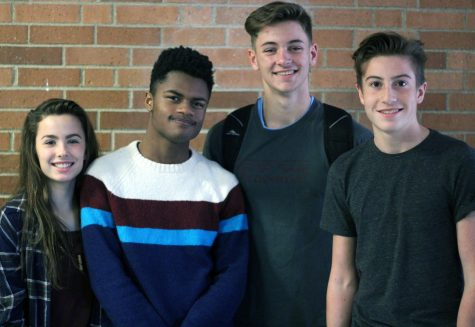 Left to Right: Freshman Addy Alexopoulos, sophomores Karis Clark, Will Keller, and Joel Nicolow.