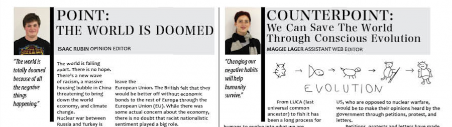Point / Counterpoint: Is the World Doomed?