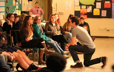 The Book of Mormon's Gabe Gibbs visits Loy Norrix Drama Students