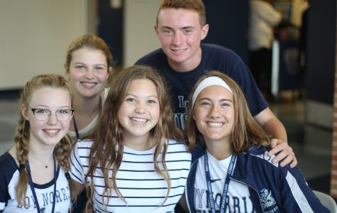 Loy Norrix Spirit Week: Blue and White Day