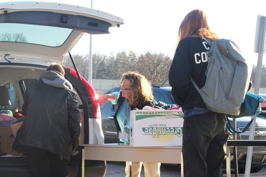 Loy Norrix Students Support Each Other with a Food Drive for the Holiday Season