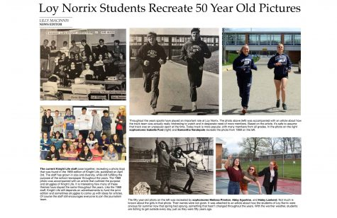 Loy Norrix Students Recreate 50 Year Old Pictures