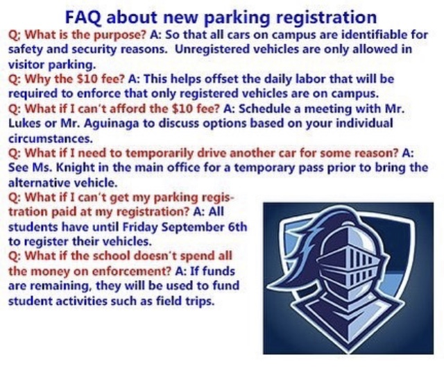 Administration answers questions about parking permits