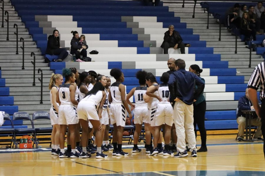 Women's varsity basketball team's first home game of 2019
