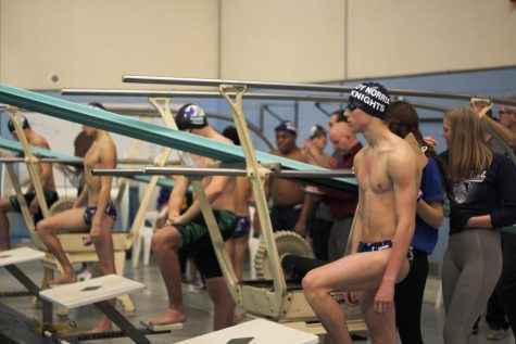 Loy Norrix men's swim team takes a strong win over Coldwater