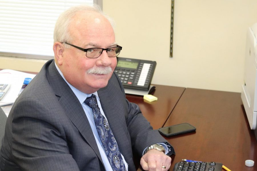Interim Superintendent Gary Start works at his desk. He will be taking over until Kalamazoo Public Schools finds a permanent replacement for Dr. Micheal Rice.