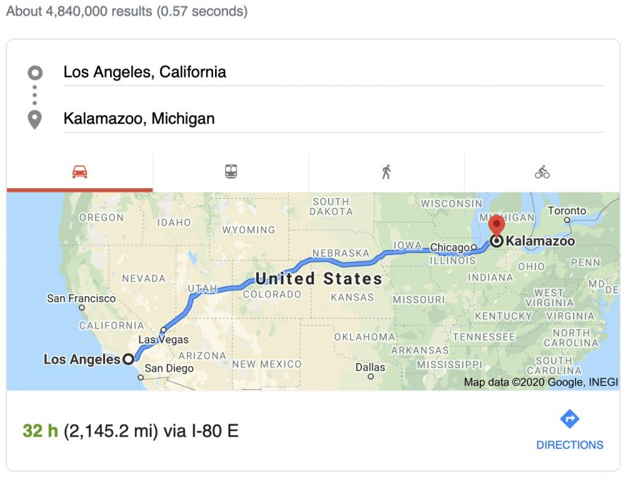 A 2,145 mile move: Kayle Trujillo and her family move from Los Angeles, California to Kalamazoo, Michigan