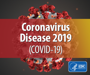 Center for Disease Control (CDC) Coronavirus graphic.