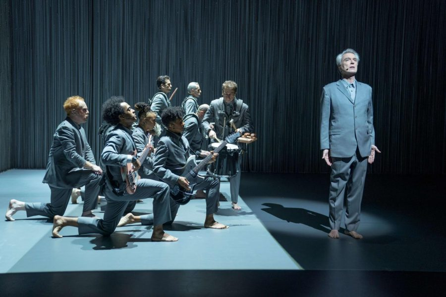 "David Byrne finds a great way to be gray in ""American Utopia"""