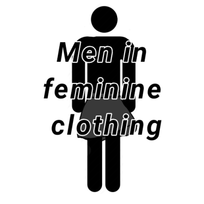 Men in feminine clothing is not a bad trend