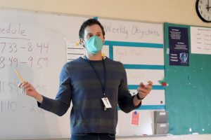 Dan Lafferty has been acting for 10 years, starting in local theatre and moving onto travelling work with Missoula Children's Theatre. He's now teaching in his first year at Norrix, hoping to carry over the successes of the departing teacher, Mrs. Carrow.