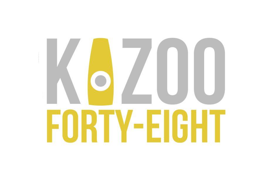 The current logo for the Kalamazoo 48 Hour Film Festival.